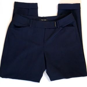WHBM Navy Tapered Ankle Pants